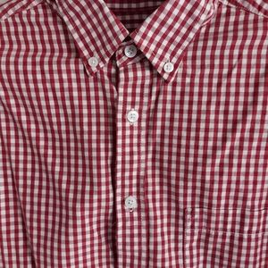Long sleeved Red and white checkered Shirt